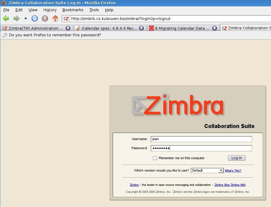 Departement Computerwetenschappen - Zimbra Calendar